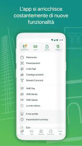 Schermata dell'app Intesa Sanpaolo Mobile