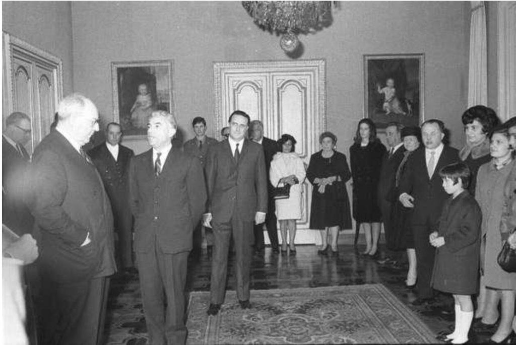 Giuseppe Fucà in udienza dal Presidente della Repubblica Giuseppe Saragat