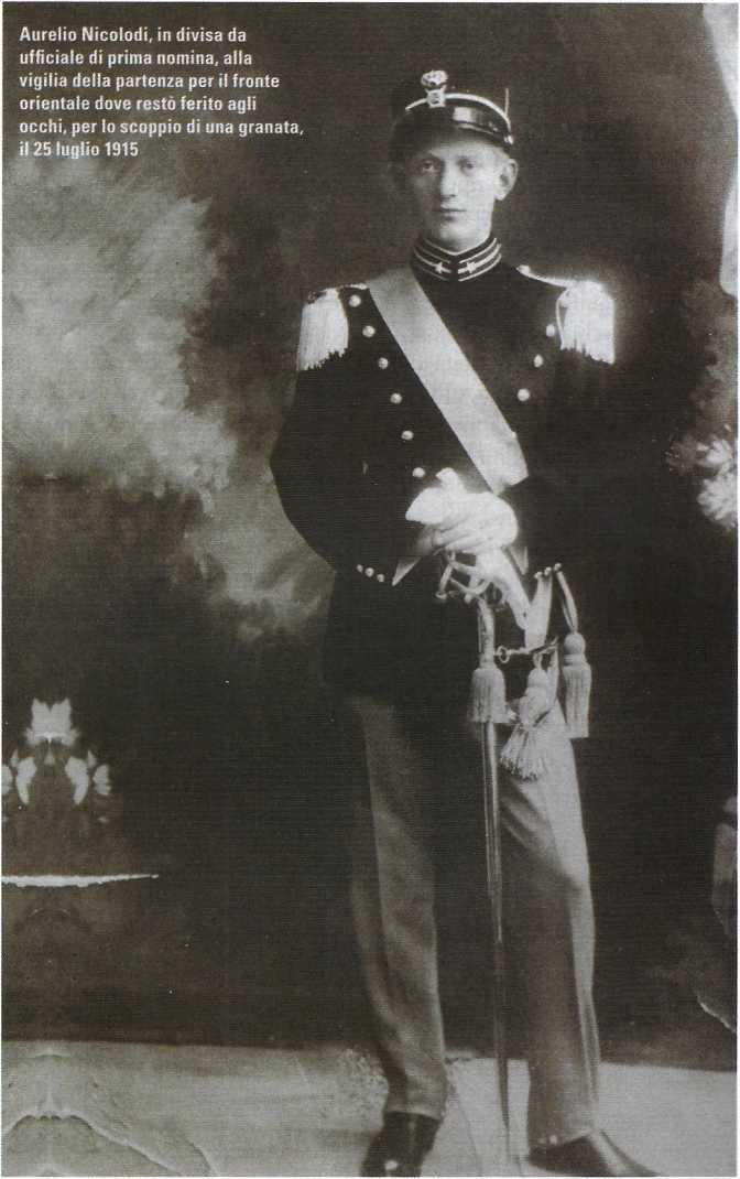 Aurelio Nicolodi, fondatore dell'Unione Italiana dei Ciechi