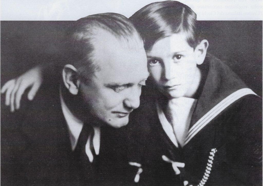 Aurelio Nicolodi con il figlio