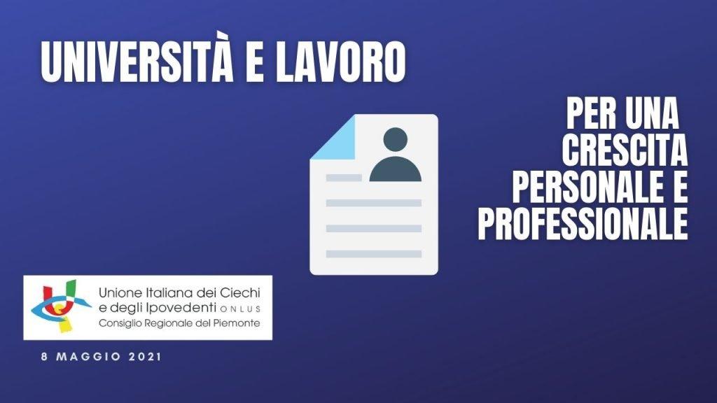 """Seminario online """"Università e lavoro per una crescita personale e professionale"""" – 8 maggio 2021"""