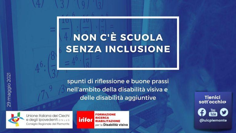 Locandina webinar Non c'è scuola senza inclusione