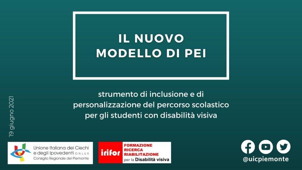 """Webinar gratuito """"Il nuovo modello di PEI"""" – 19 giugno 2021"""