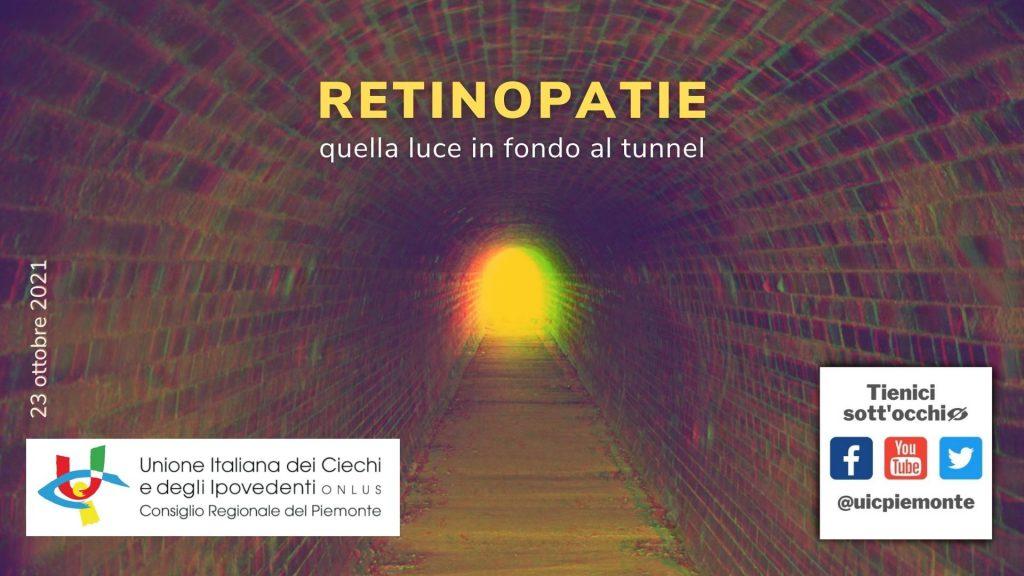 """Seminario online """"Retinopatie: quella luce in fondo al tunnel"""" – 23 ottobre 2021"""