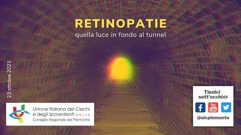 """Seminario """"Retinopatie: quella luce in fondo al tunnel"""" 23 ottobre 2021"""